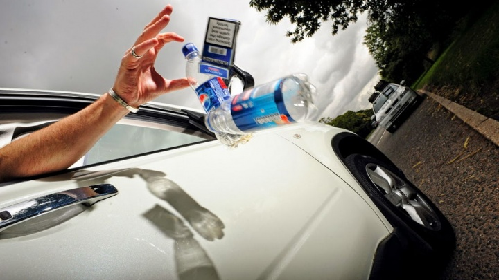 Throwing objects through a car window can be fine until ...