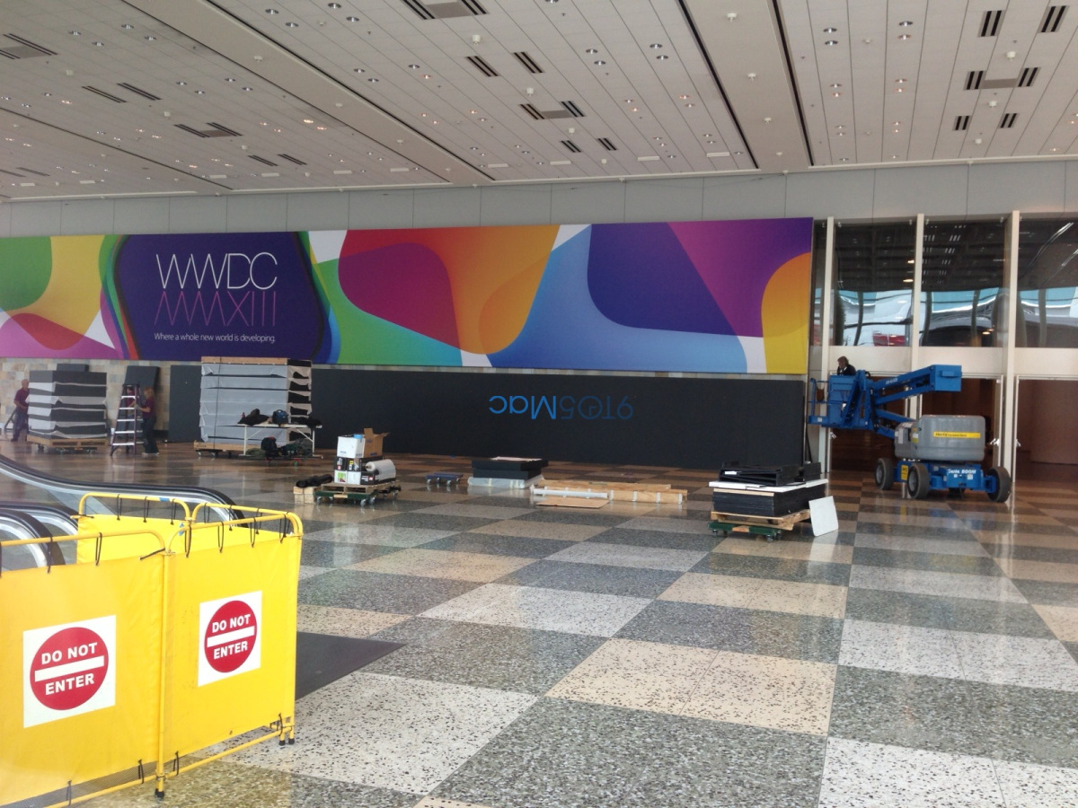Apple You are already preparing the Moscone Center for WWDC 2013 1