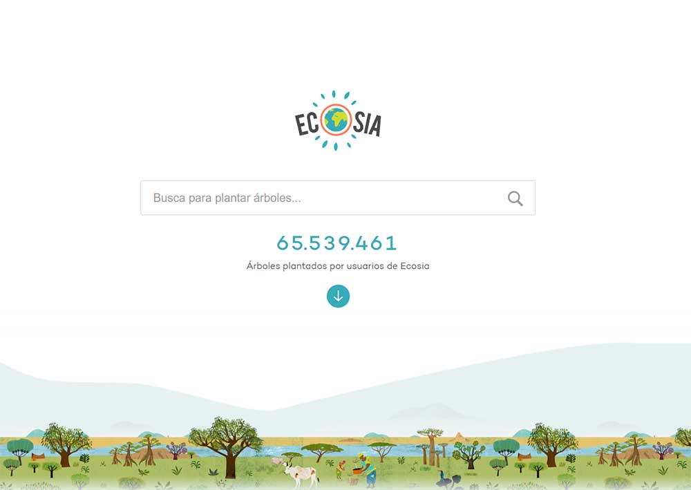 Ecosia, the navigator that plants trees to avoid climate change