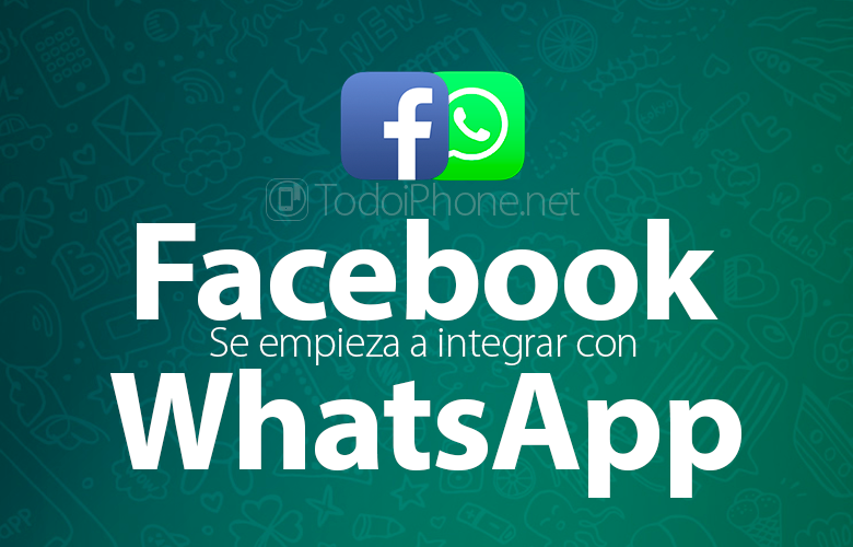 Facebook it starts to integrate with WhatsApp 1