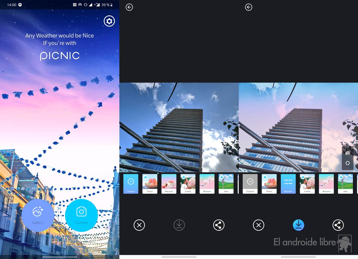 Change the skies of your photos with the Picnic app