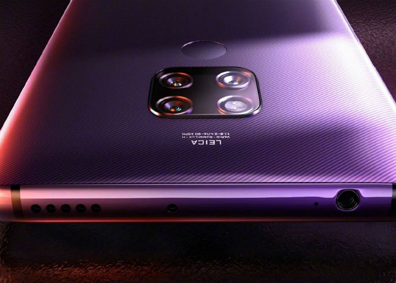 The Huawei Mate 30 is shot in real images