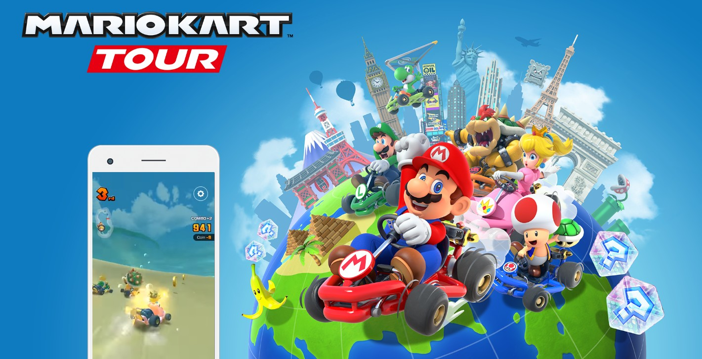 The arrival of Mario Kart Tour for smartphones Android and iOS servers collapse