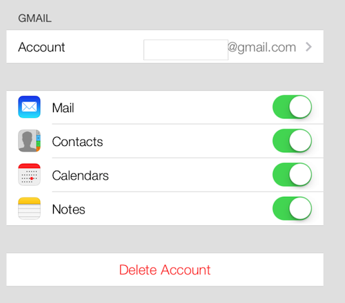 iOS 7 Allows you to Synchronize your Google Contacts 1