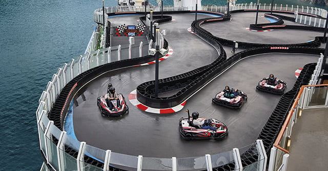 Mario Kart comes true with this track on the deck of a cruise ship