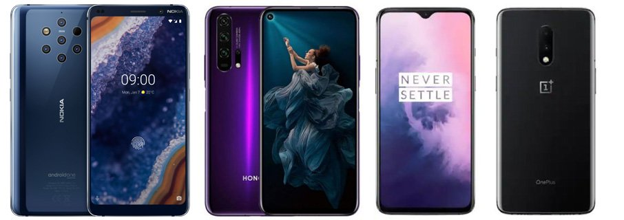 Nokia 9 PureView - Honor 20 Pro - OnePlus 7: Feature Comparison 1