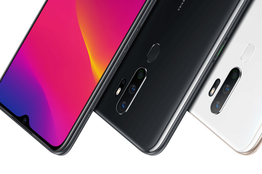 OPPO A5 (2020): the four cameras extend in the mid-range of OPPO