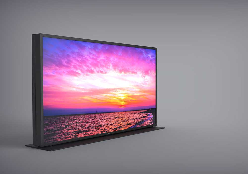 Panasonic presents a TV with two layers LCD and another transparent