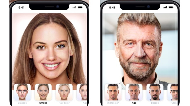 FaceApp on iPhone