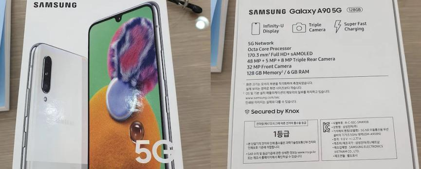 Samsung Galaxy A90 5G: Wallpapers and Specifications in the Box