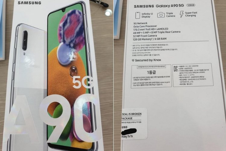 Leaked Galaxy A90 5G Retail Box, Poster Confirms Key Specifications