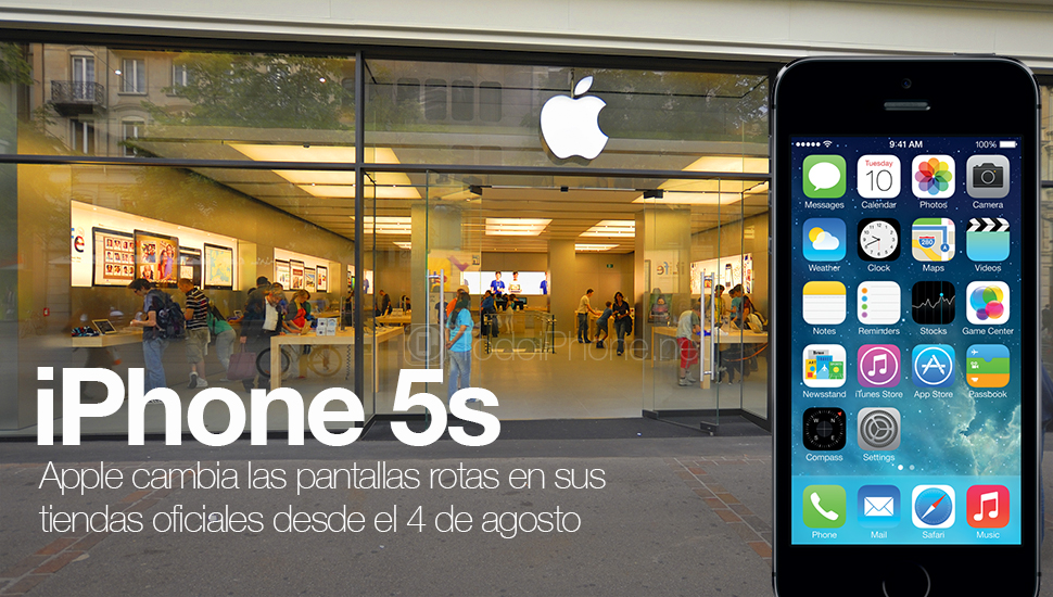 The broken screen of the iPhone 5s can be changed in the Apple Store 1