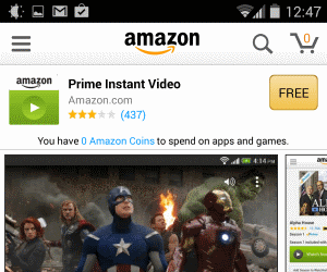 How to look Amazon Prime Instant Video on Android