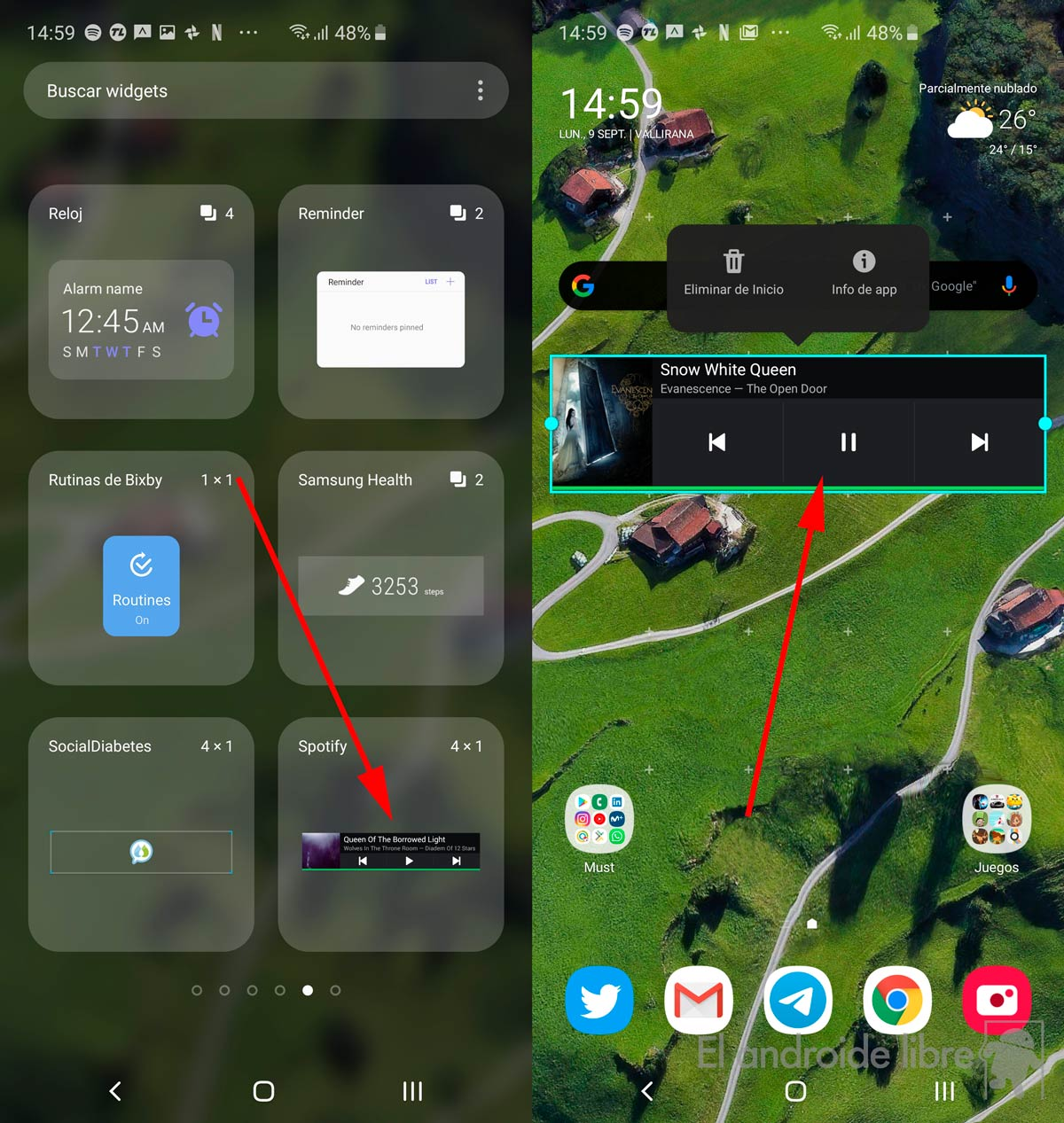Spotify retrieves its widget and improves it: update now!