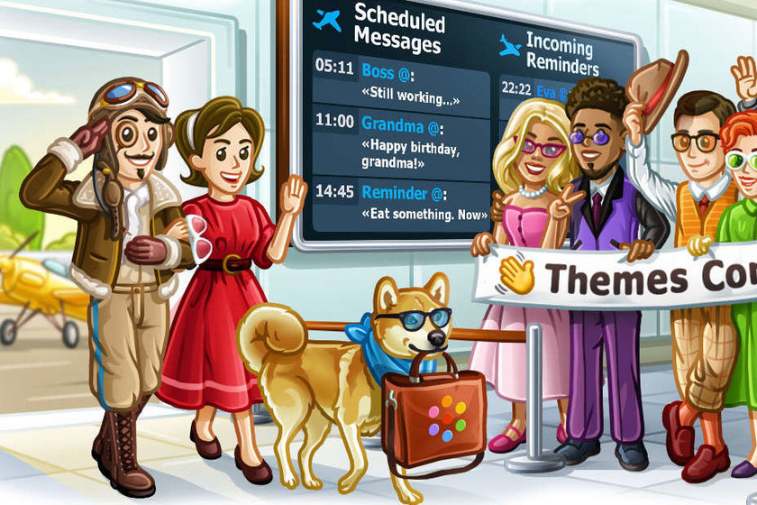 Telegram 5.11 allows you to schedule messages, has a simpler theme editor and other news