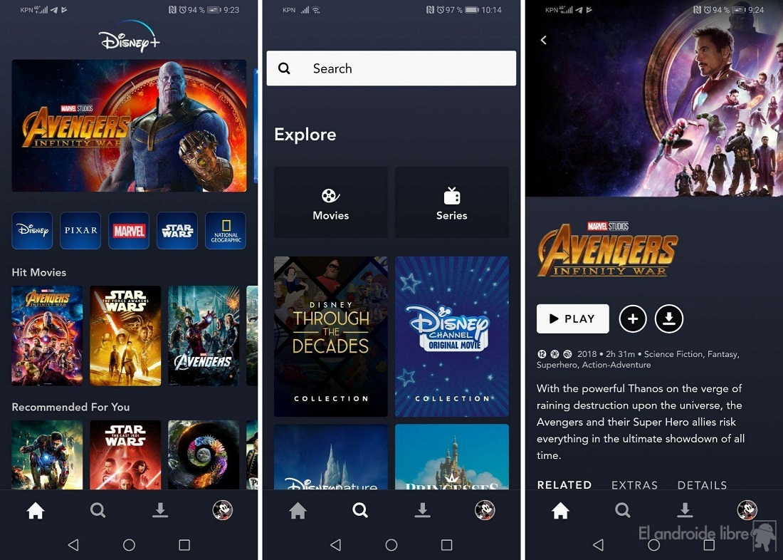 We tested Disney + on Android: this is Disney's streaming service