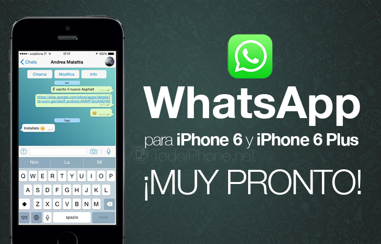WhatsApp optimized for iPhone 6 and iPhone 6 Plus Coming soon! 1